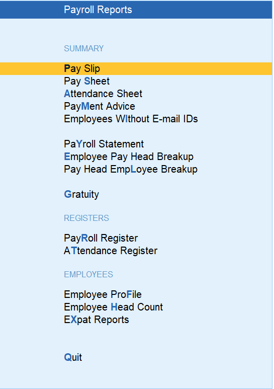 auto-generation of payslip and report by using payroll software