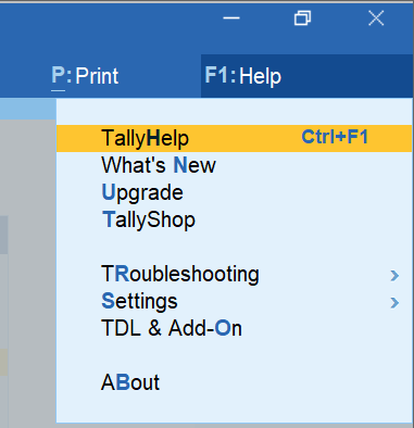 TallyPrime Help