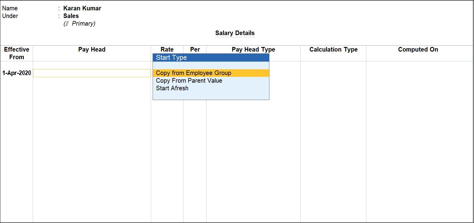 Employee grouping in HR payroll software