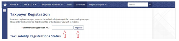 VAT registration process with CRN