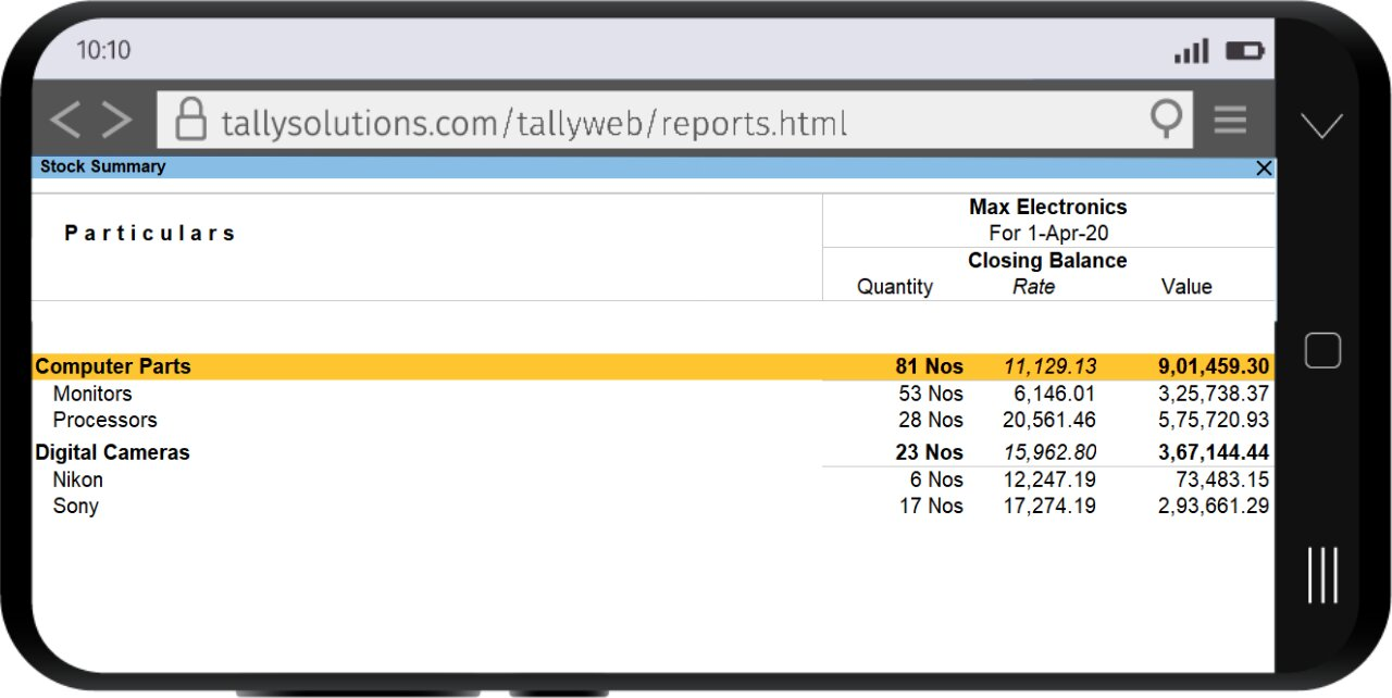Reports on browser