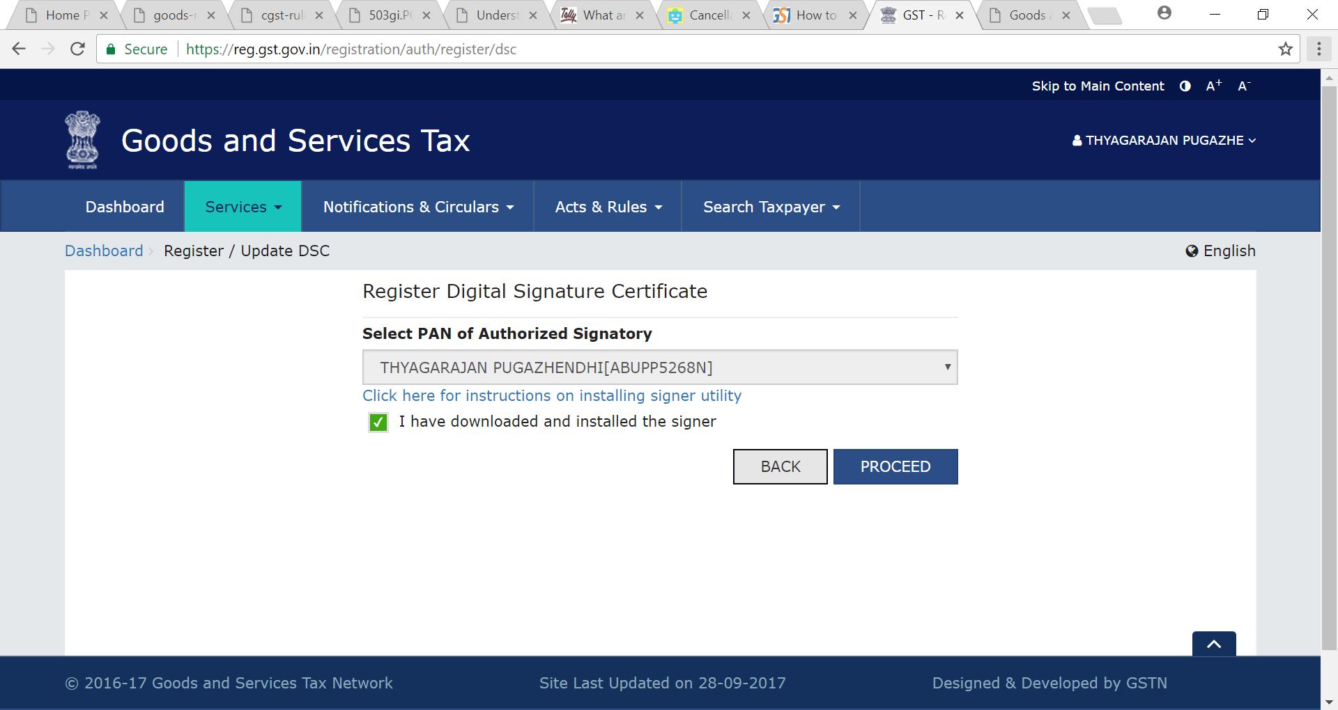 dsc register