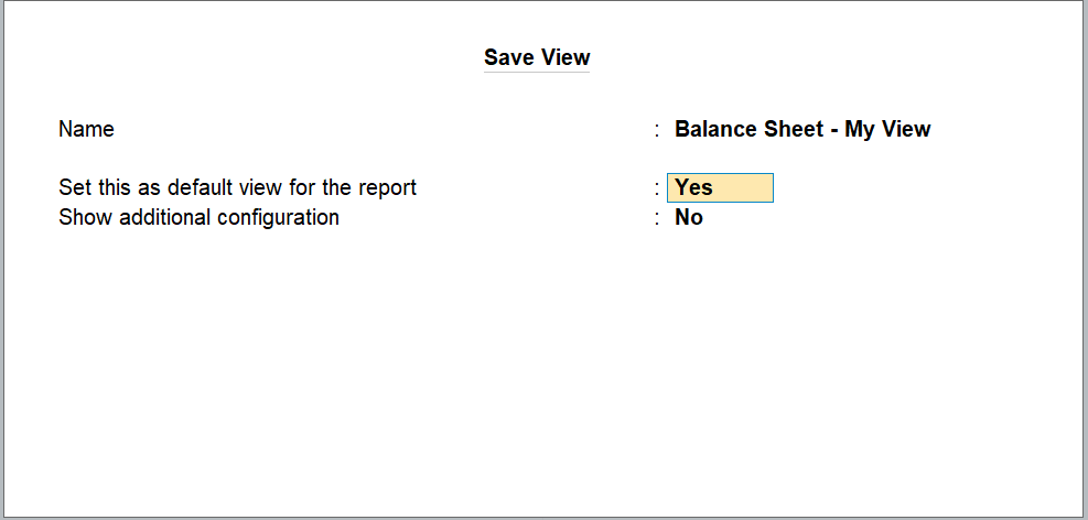 personalise the report view